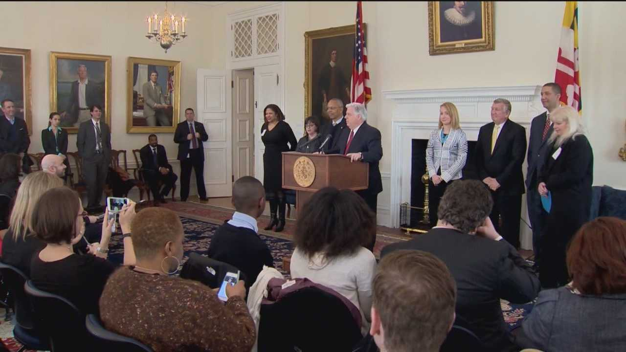 Gov. Larry Hogan's bill to expand charter schools in Maryland took center stage in Annapolis Thursday.