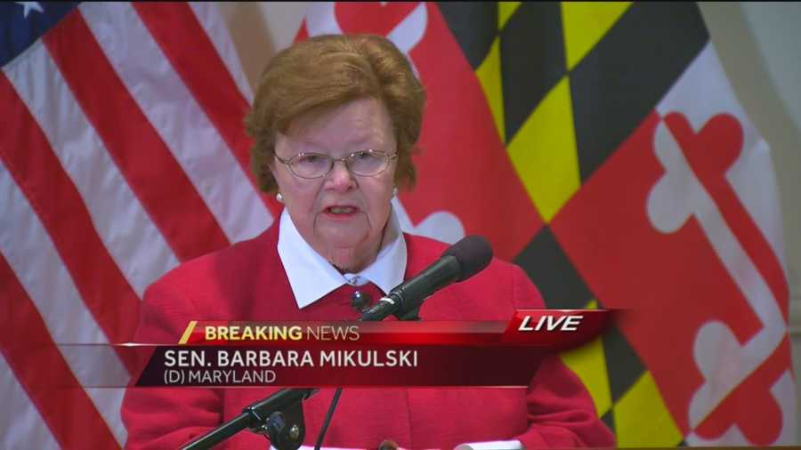 U.S. Sen. Barbara Mikulski announces retirement