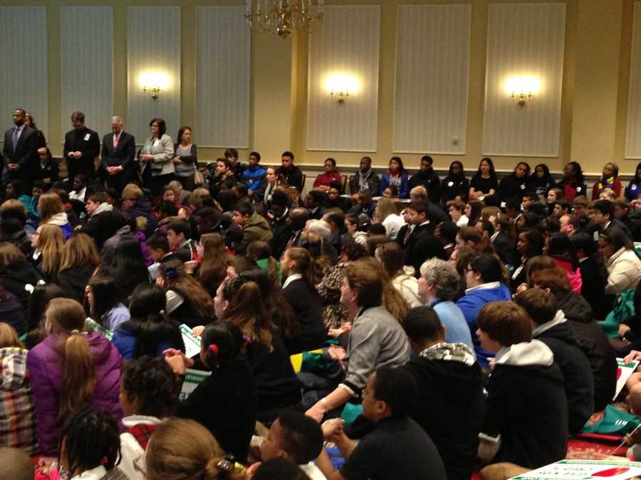 March 4: Hundreds gather for tax credit for non-public school donations.