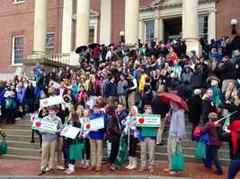 March 4: Students at State House.