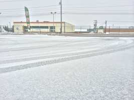 Snow in Timonium at 7:40 a.m.