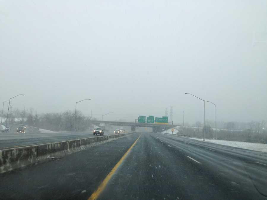 Foggy but relatively clear conditions reported Thursday morning on Interstate 695 West.