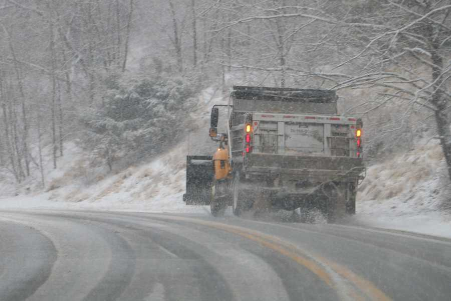 Plow truck on McCormick Road Hunt Valley