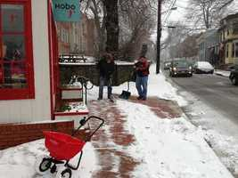 Shoveling in Annapolis