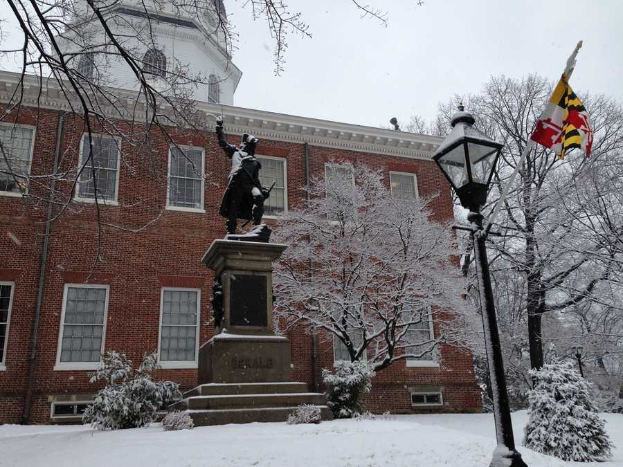 Capital City State House snow