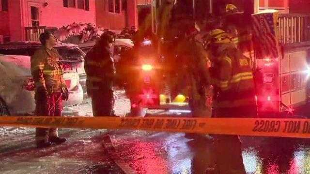 Fire crews are investigating a two-alarm blaze in Edgewood that happened early Friday morning and injured six people, including a firefighter.
