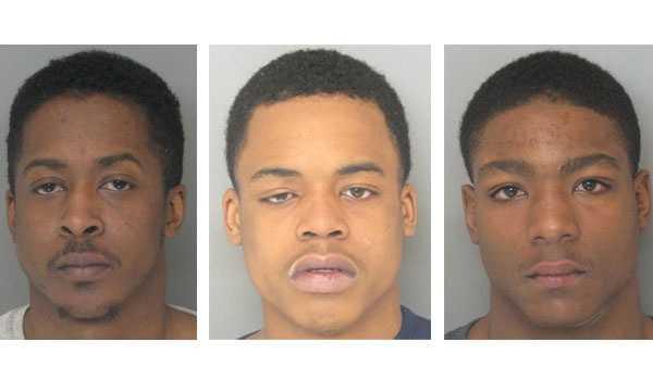 Anthony Leon Eley Jr. (left), Ronald Jones (middle), Troy Michael Brooks Jr. (right)