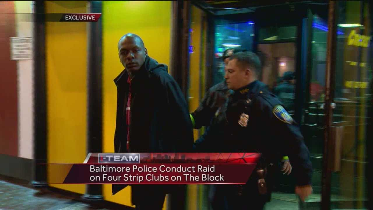 Baltimore City police on Tuesday night conducted a raid on the infamous Block -- practically beside police headquarters -- looking for drugs and guns, the WBAL-TV 11 News I-Team has learned.