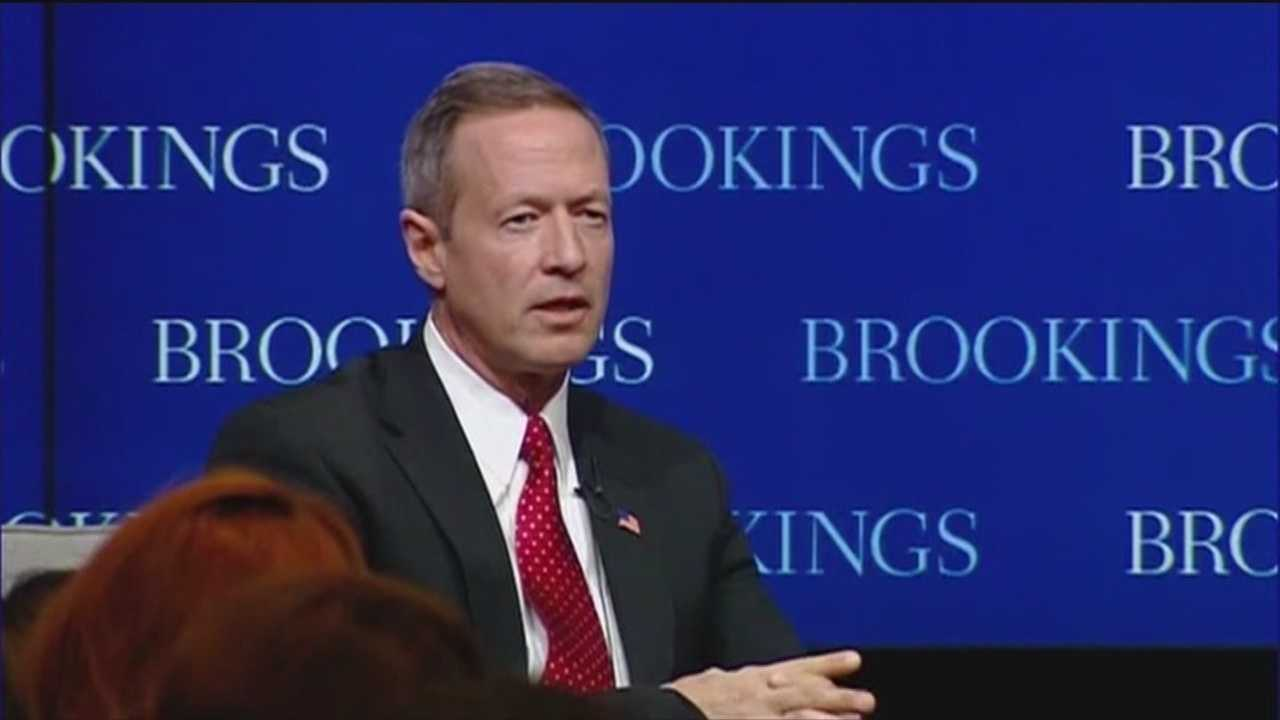 Former Maryland Gov. Martin O'Malley gave a speech about data-driven government at the Brookings Institute down in Washington, D.C., but reporters in the audience wanted his take on a different kind of data, the email practices of Hillary Clinton.