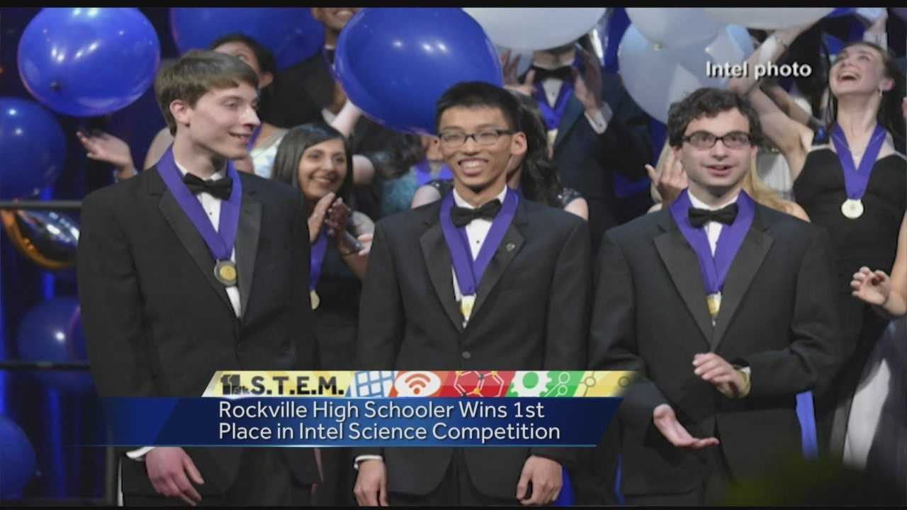WBAL-TV highlights Rockville high school senior Michael Hofman (pictured right), who won first place in a nationwide Intel Science Talent Search competition. Congrats!