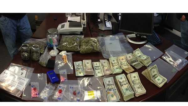 Drugs, cash seized in Glen Burnie bust.