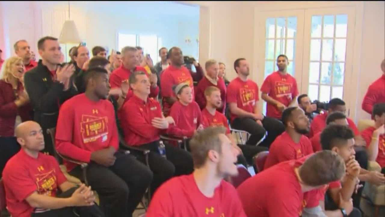 Pete Gilbert reports with the University of Maryland men's basketball team on Selection Sunday.