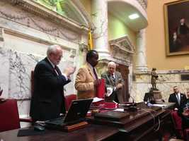 March 19: Sen. Ulyssess Currie honored in Senate.