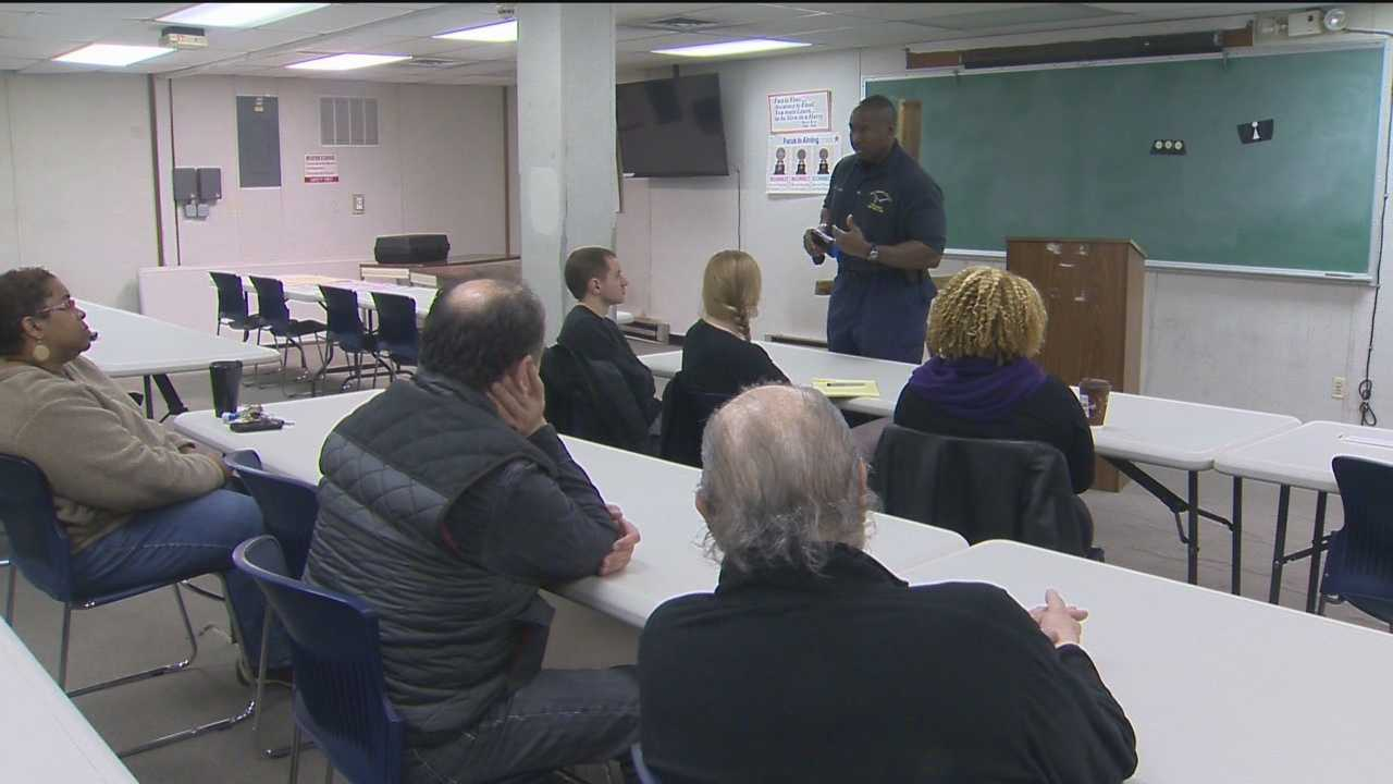 The Baltimore Citizens' Police Academy shows what it's like to be a police officer and even included one of the students getting shocked voluntarily by a Taser.