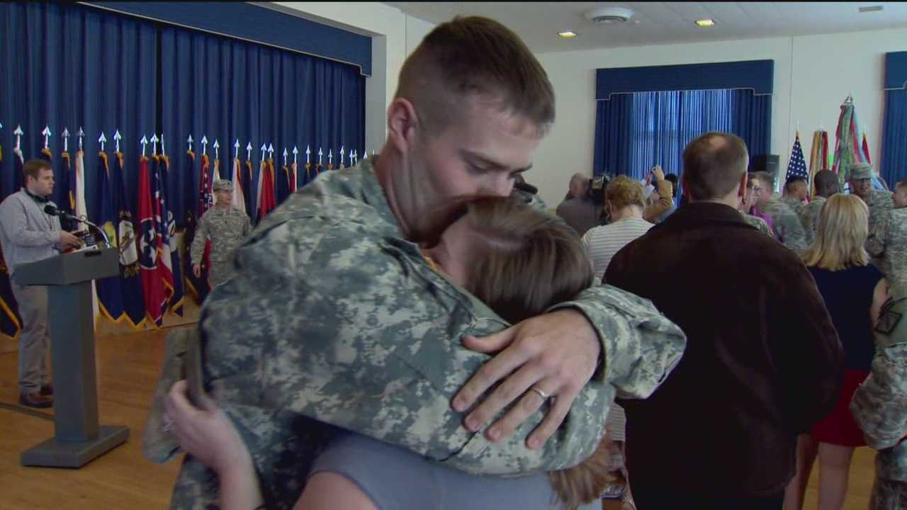 A U.S. military medical unit returned to Aberdeen Proving Ground after overseeing mobile Ebola testing laboratories in Liberia for four months.