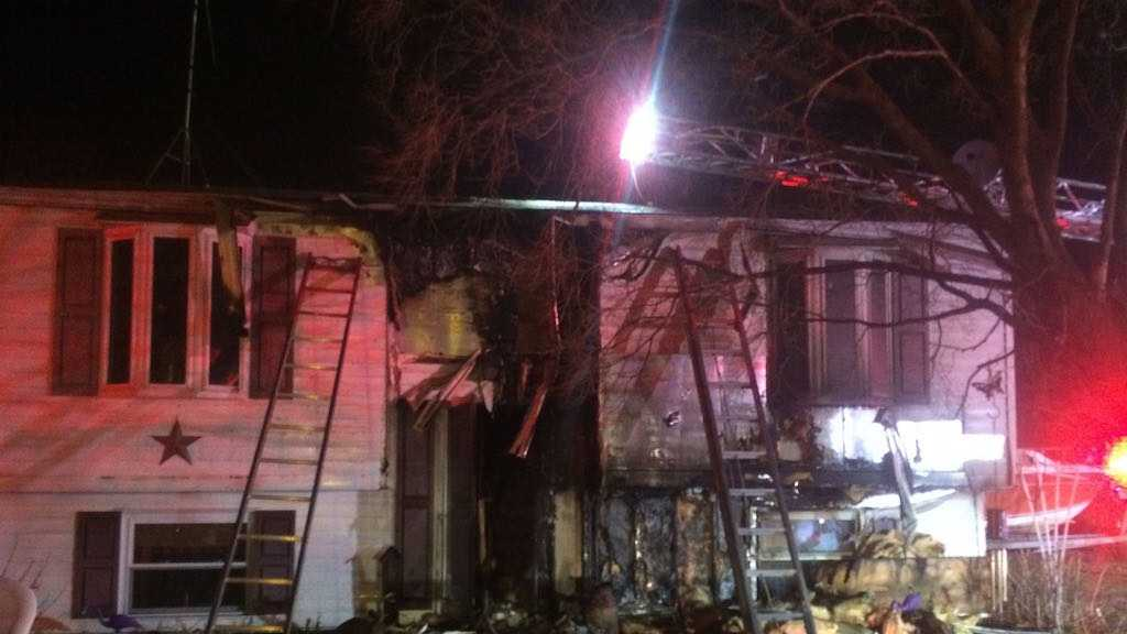 A Joppa family of four lost their home in an overnight fire.