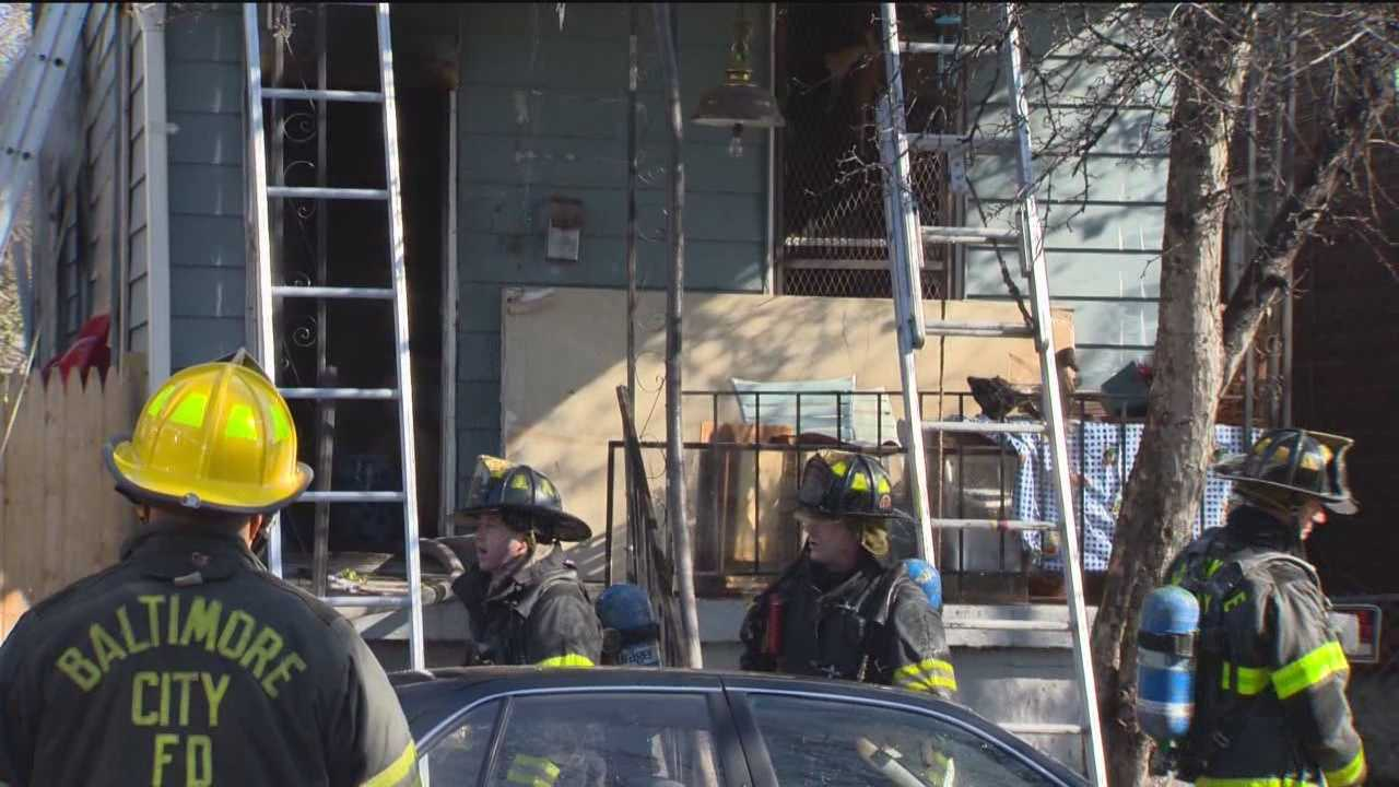 A dramatic effort falls short of saving a toddler from a fire in Baltimore.