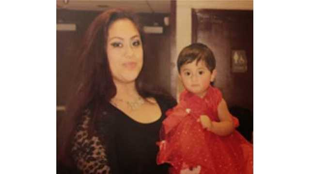 Alba Cristina Romero Argueta, 16, and Nathalie Tatiana Romero Argueta, 15 months