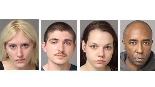 Cara McCleskey (left), Matthew Curtis (second), Tiffany Carr (third), Darrell Sewell (right)