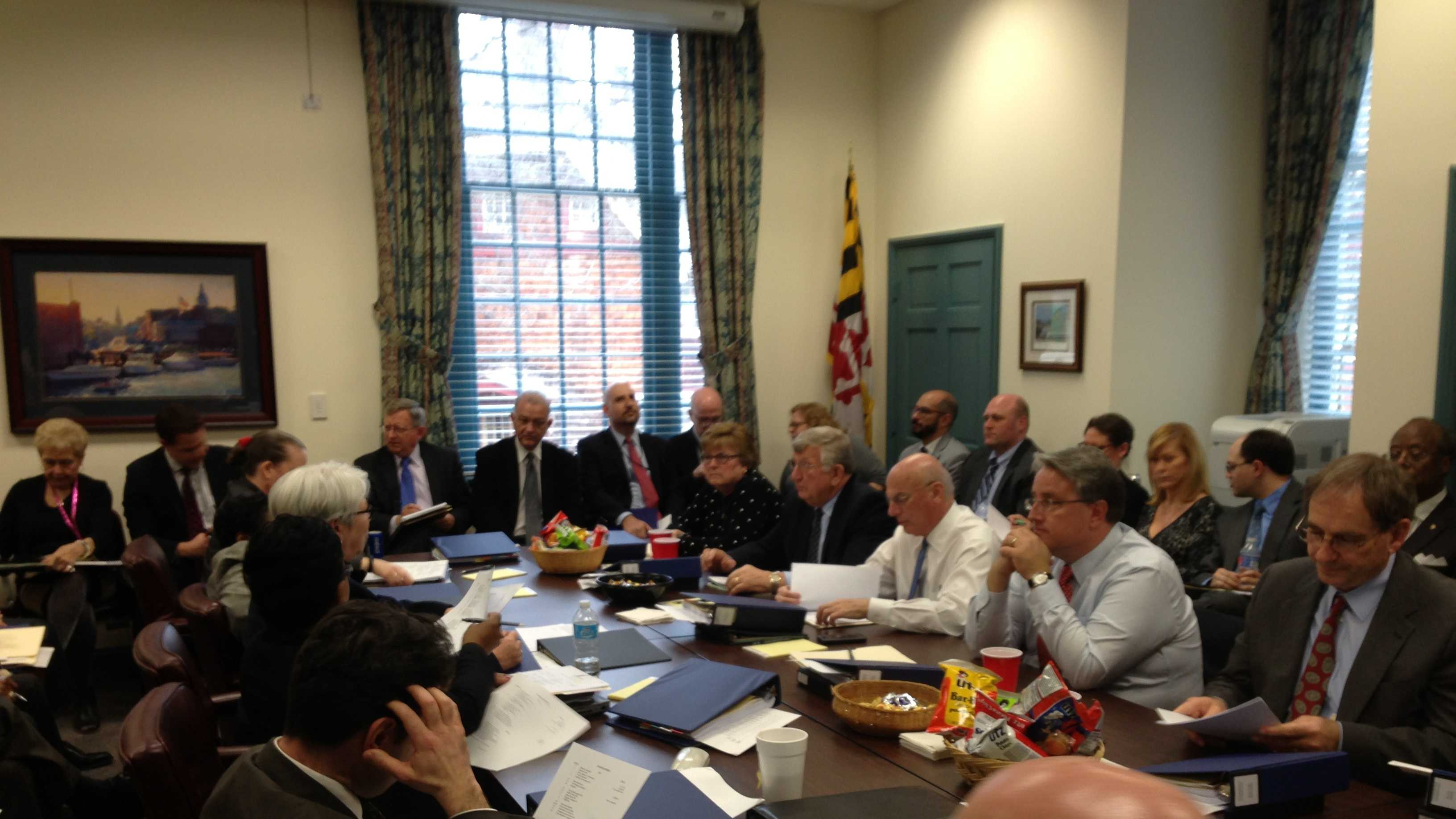 Maryland General Assembly budget conference committee meets Tuesday