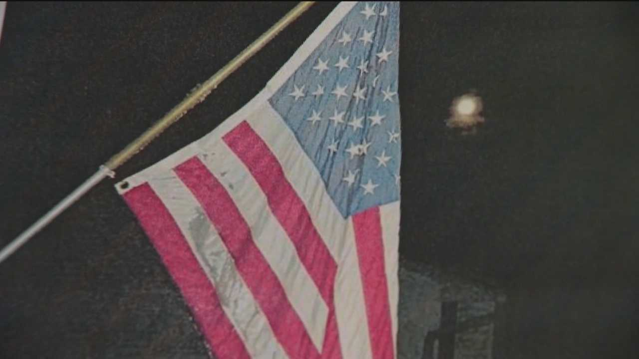 A Bel Air couple is hoping to get their American flag back after someone took it from their house last week.