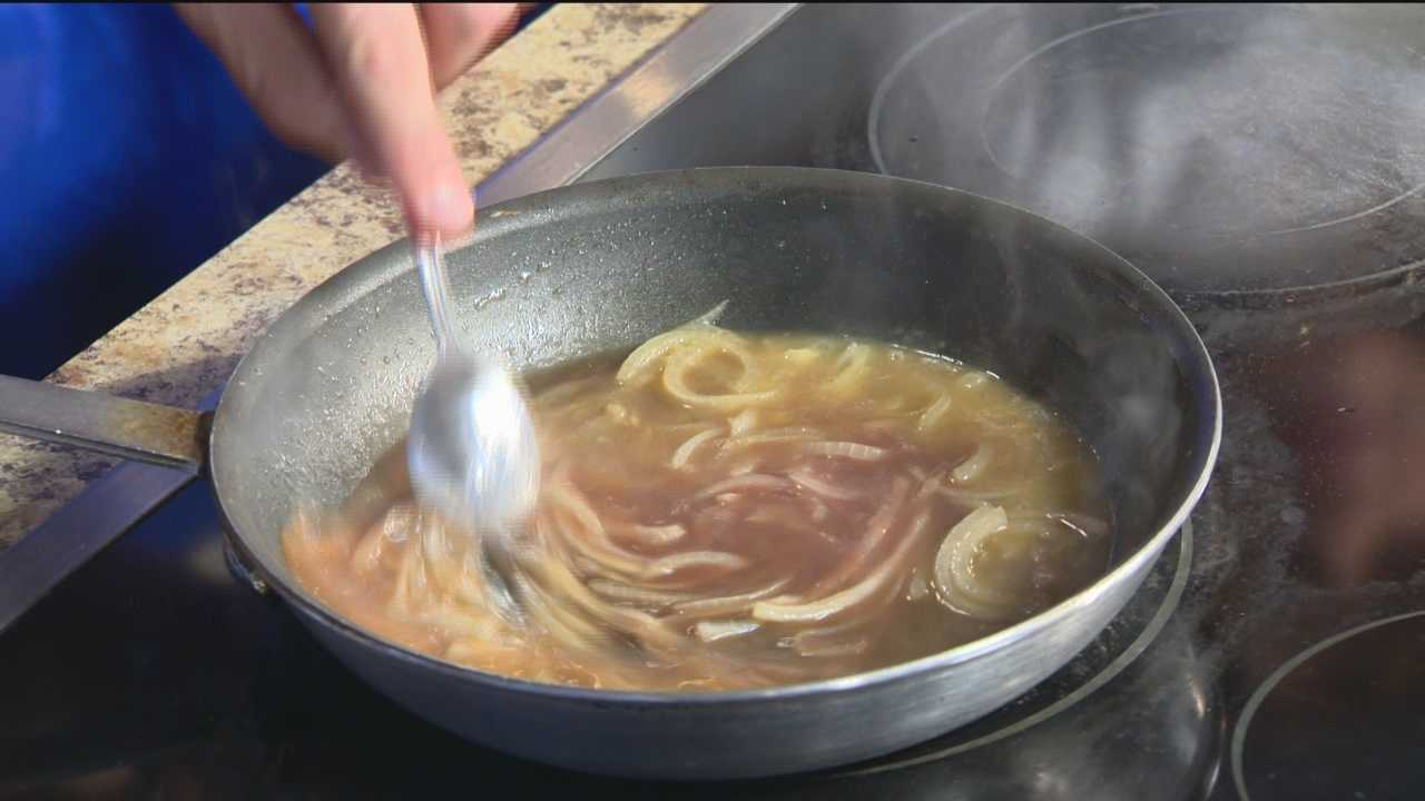 Frank Ziegler from The French Kitchen in the Lord Baltimore Hotel makes French Onion Soup.