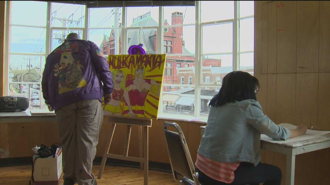 Artists with disabilities have a unique art studio in Hampden to share their talents with the world.