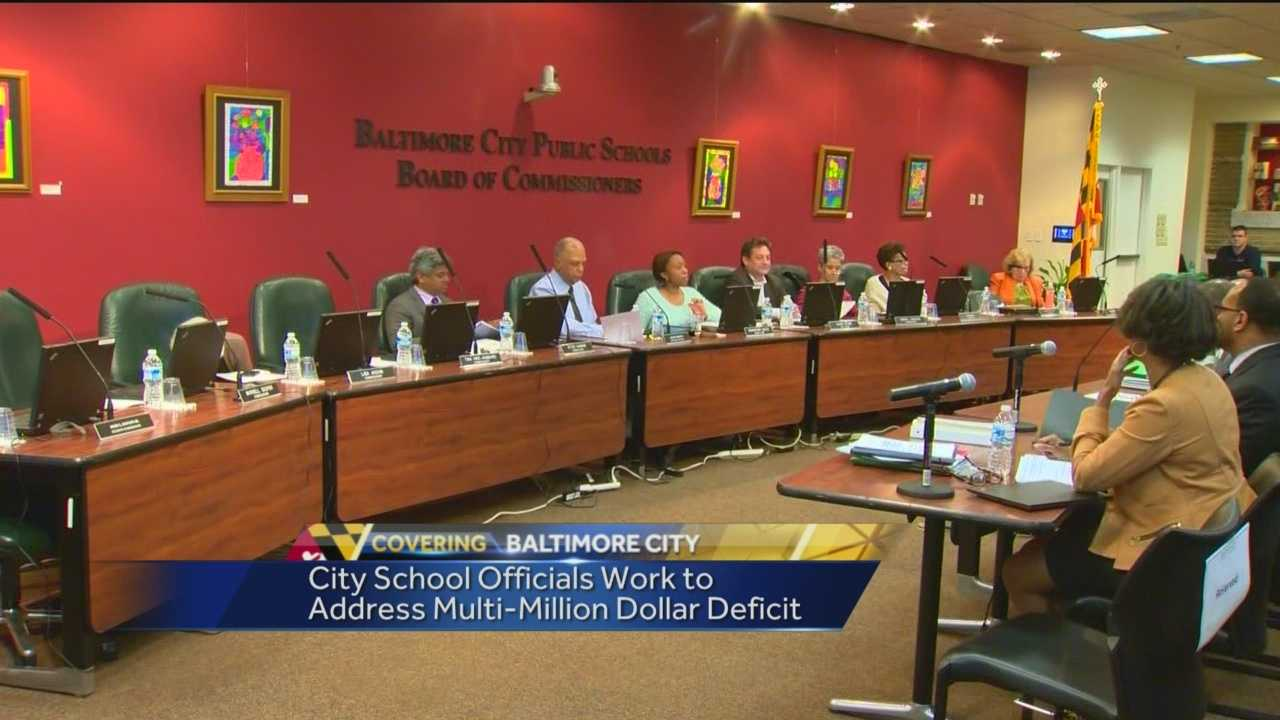 The proposed Baltimore school budget includes 120 layoffs of central office positions.