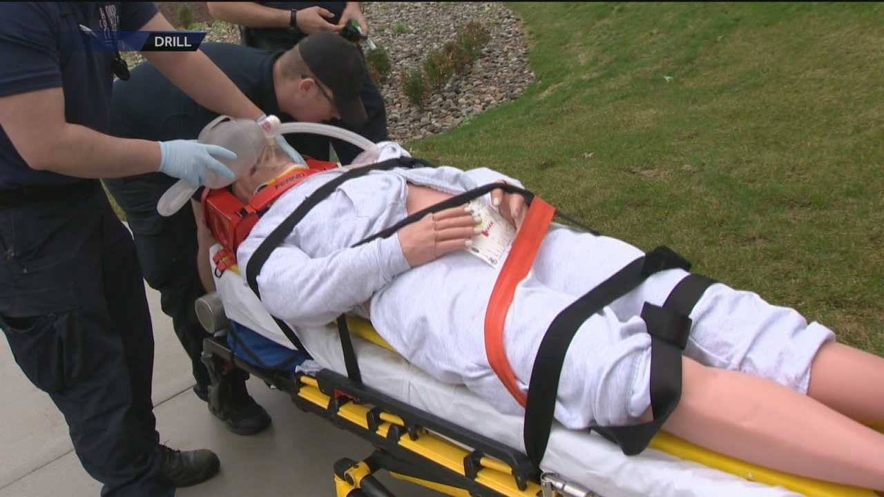 Harford Community College simulated a mass casualty event that had nursing and paramedic students working together in a way they've never been able to do before.