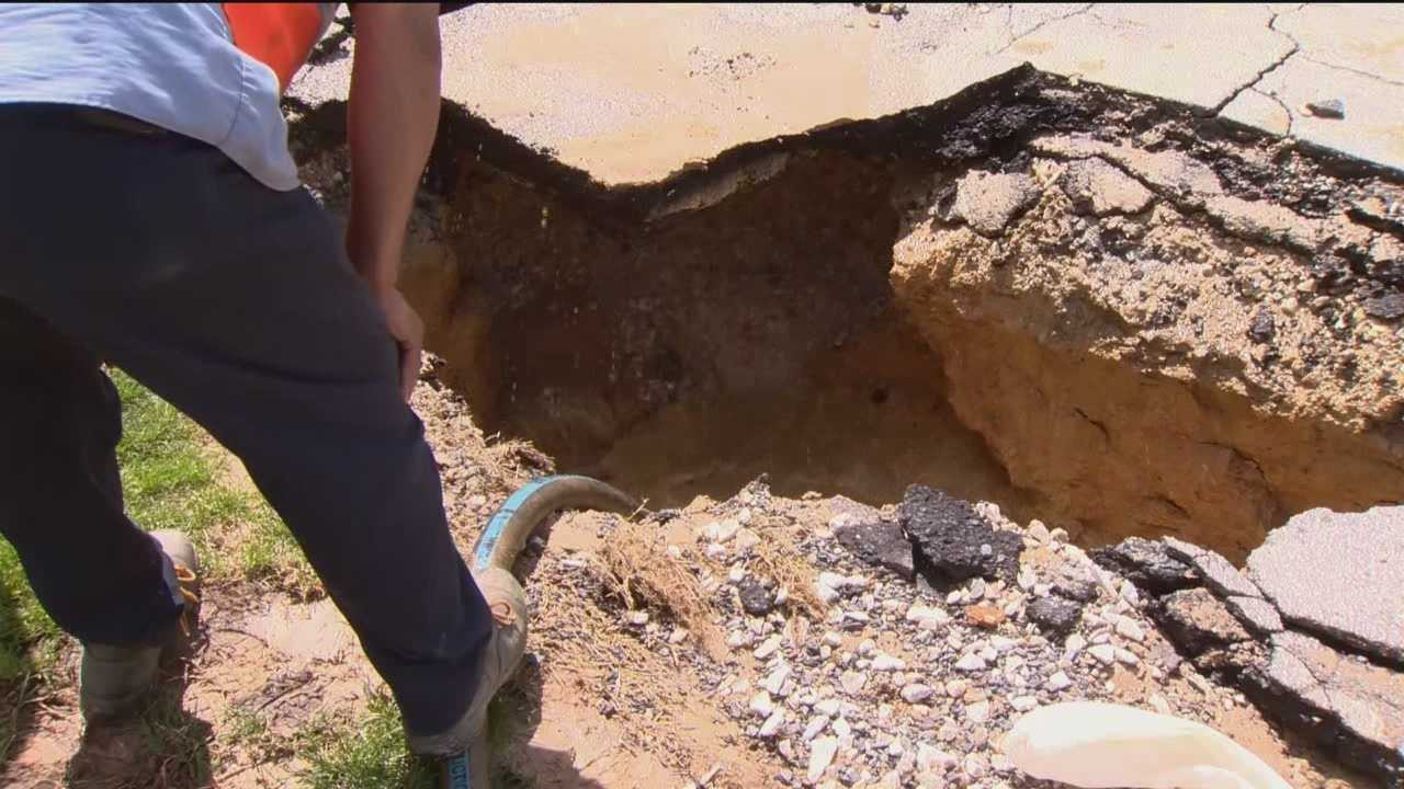 An 8-inch water main break in the 3000 block of 2nd Avenue in Parkville spilled thousands of gallons of water.