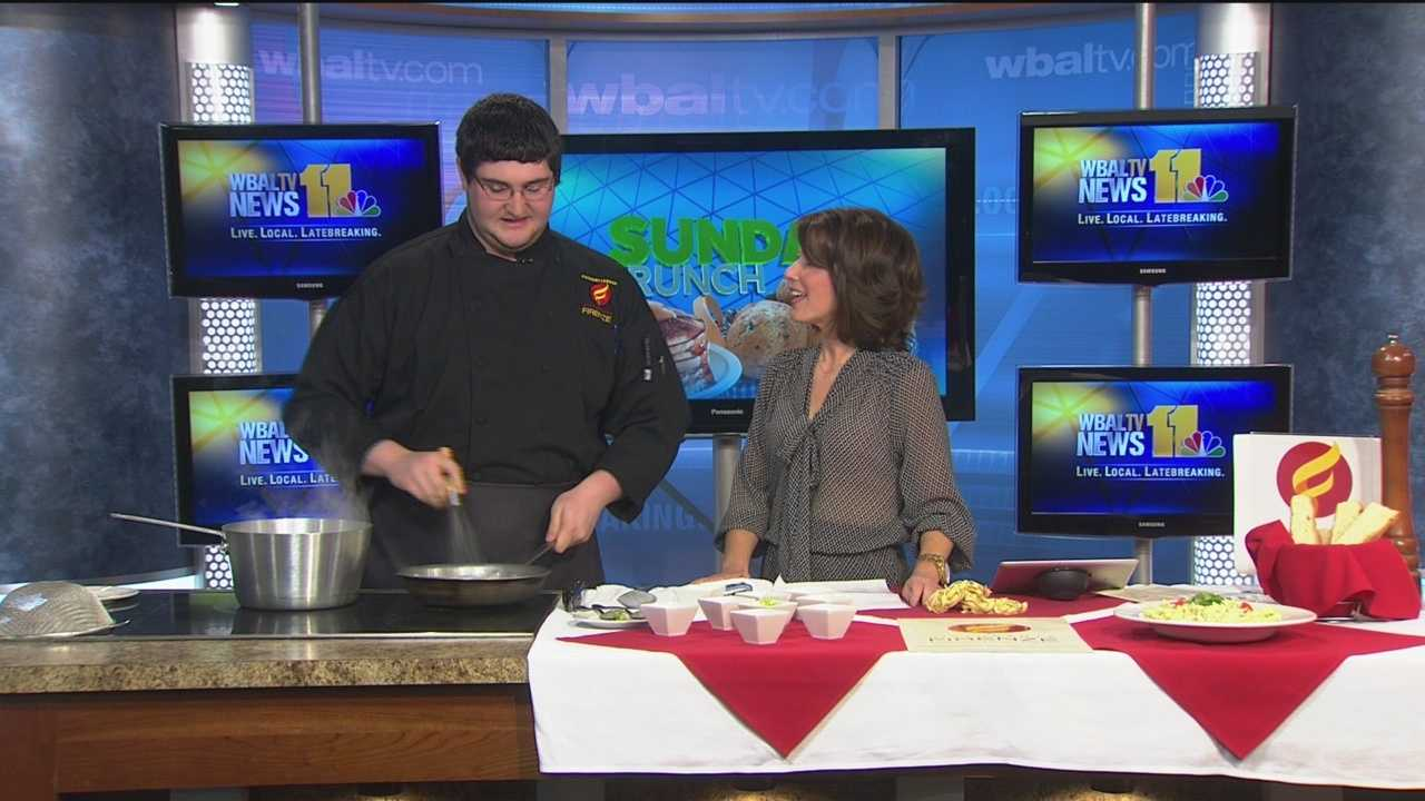 Zachary Leonardi from Ristorante Firenze makes Fettuccine Alfredo.