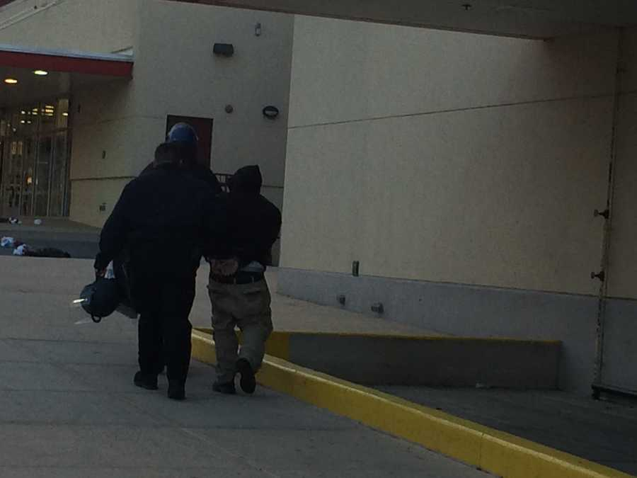 Arrest at Mondawmin Mall