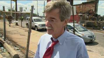 Attorney General Brian Frosh wanted to show his support after the Southern Baptist Church's Mary Harvin Transformation Center, scheduled to be complete in October, was destroyed by fire during the violence in Baltimore Monday night.