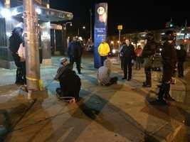 Several arrested by police as a citywide curfew is enforced at Pennsylvania and North avenues.