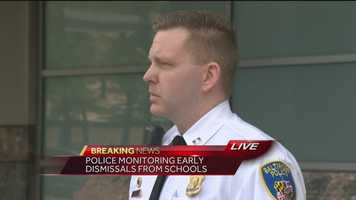 Baltimore Police Captain Eric Kowalcyzk says 35 people were arrested Tuesday night and 111 people remain in custody waiting to be charged in Monday's riots.