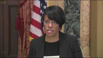 Baltimore Mayor Stephanie Rawlings-Blake expressed her feelings on Mosby's decision during a brief news conference Friday afternoon.