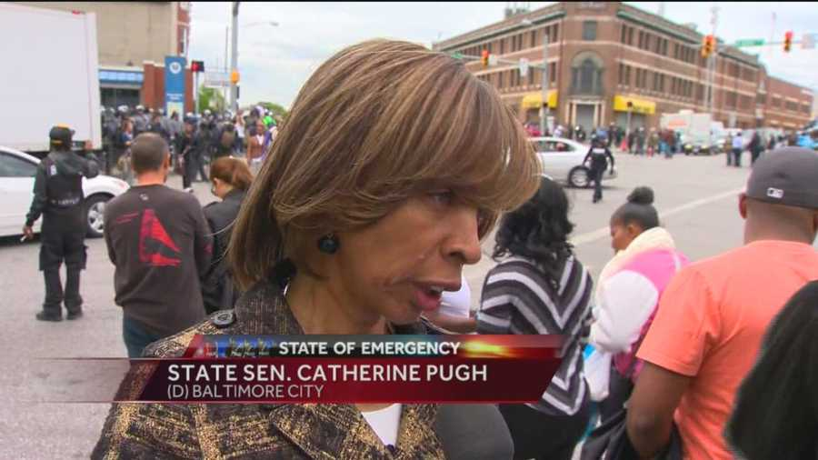 State Sen. Catherine Pugh spoke on the impact of Baltimore City State's Attorney Marilyn Mosby's decision to charge the six officers in the death of Freddie Gray.