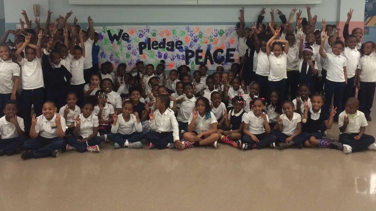 Collington Square Elementary School students
