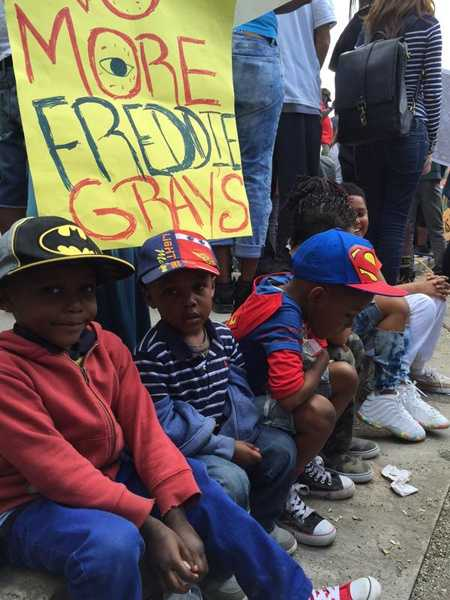 There were plenty of youngsters at Baltimore City Hall for Saturday's rally.