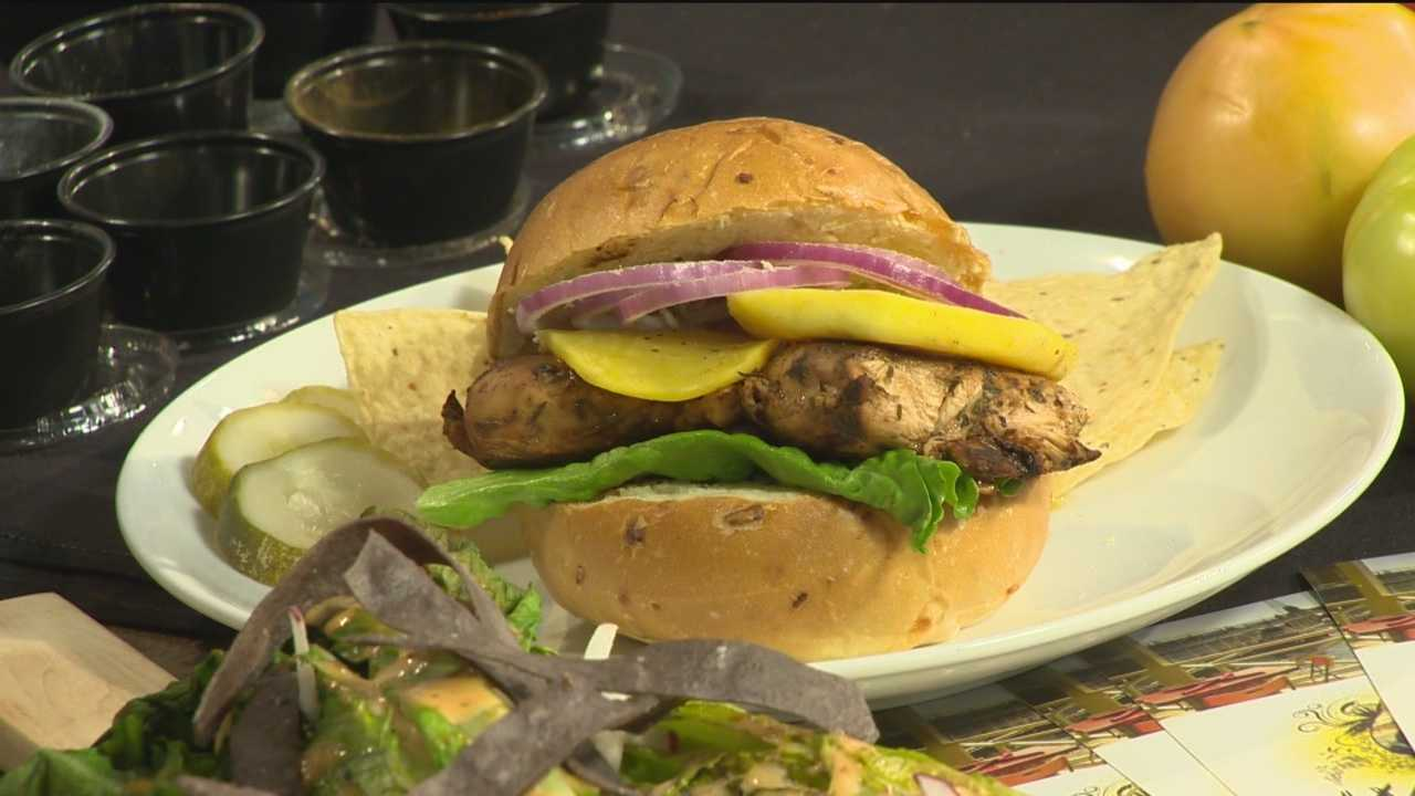 Chris Marquis and Willy Dely from Woody's Rum Bar & Island Grille make Marinade Jerk Chicken.