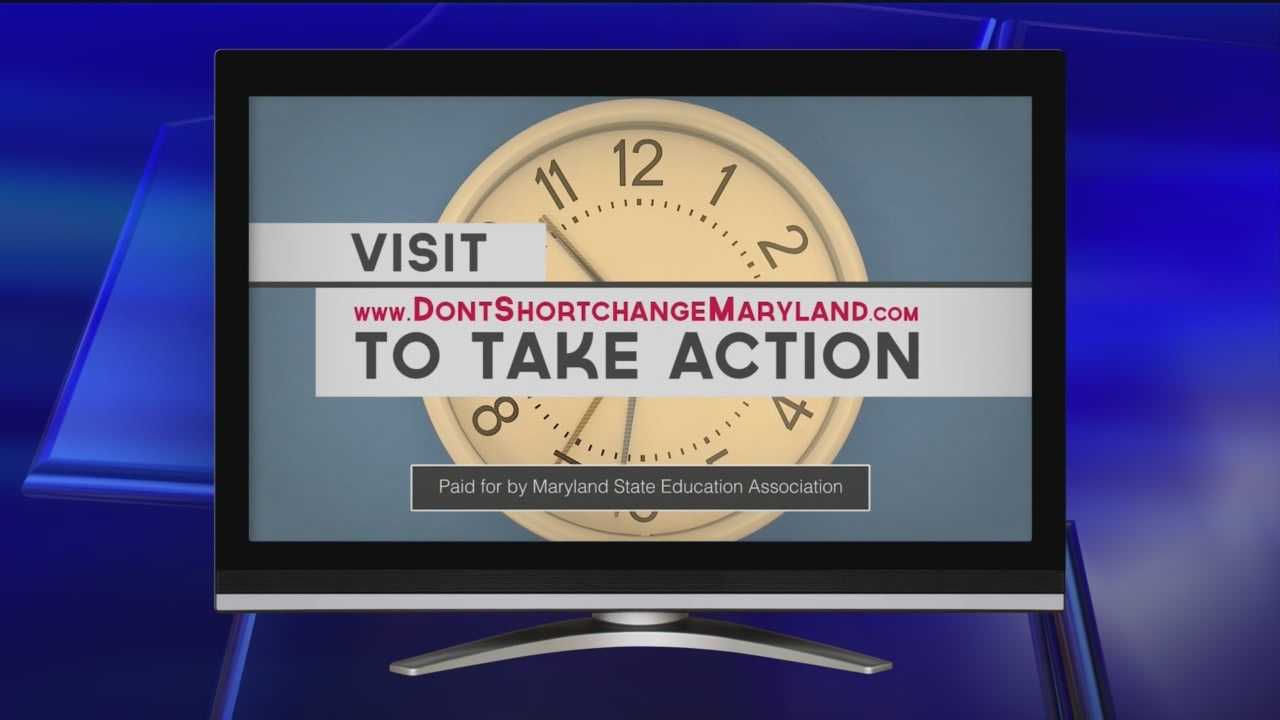 The state teacher's union is promoting an online ad to try to get the governor to budge on education funding.