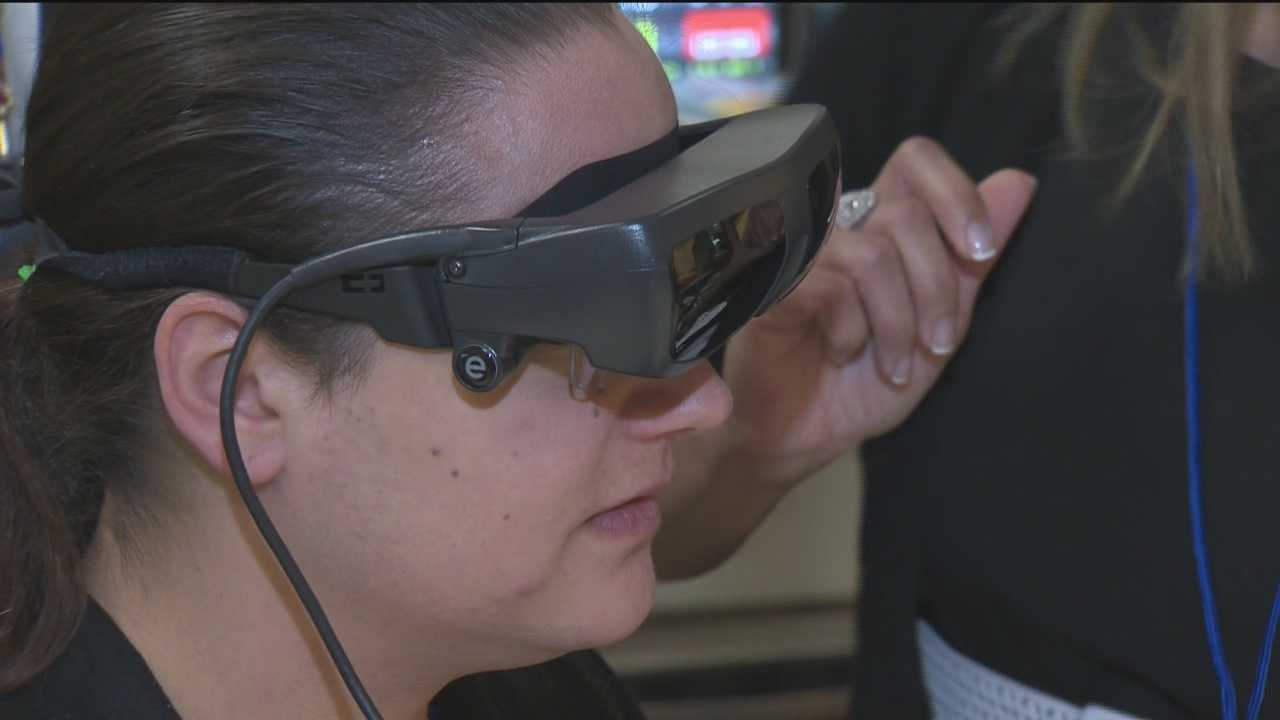 One Baltimore woman's poor eyesight has limited just about every aspect of her life, but that all changed on Tuesday.