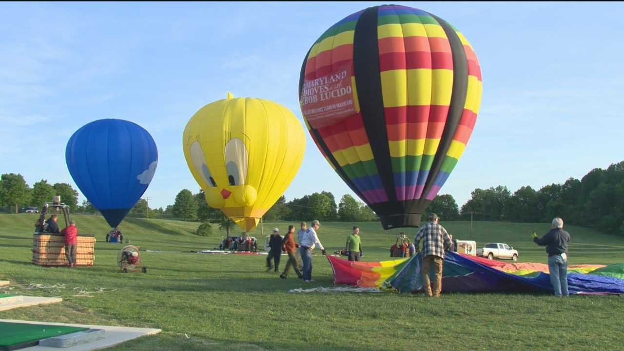 Pilots prepared their balloons Thursday for the big show at the Preakness Celebration Balloon Festival.
