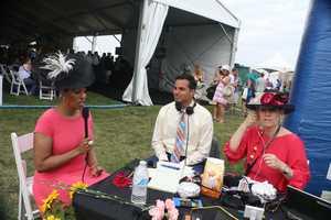 Baltimore Mayor Stephanie Rawlings-Blake with WBAL NewsRadio 1090 on Black-Eyed Susan Day