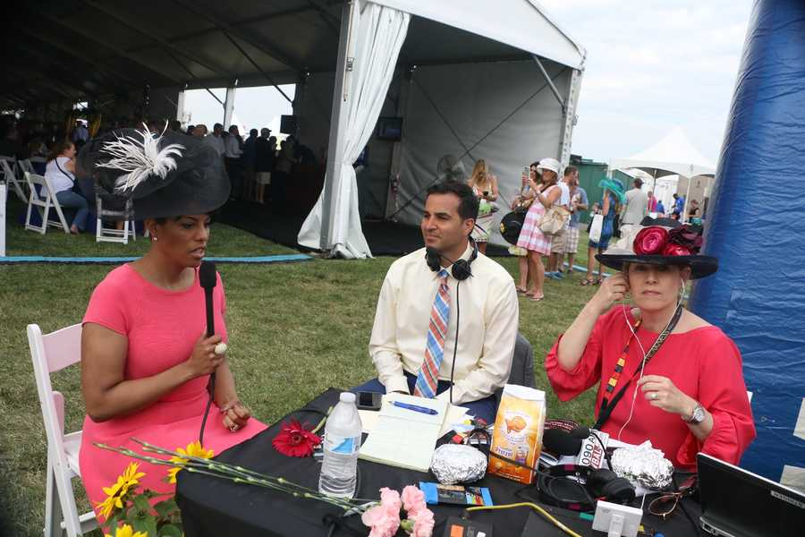 Baltimore Mayor Stephanie Rawlings-Blake with WBAL NewsRadio 1090 on Black-Eyed Susan Day