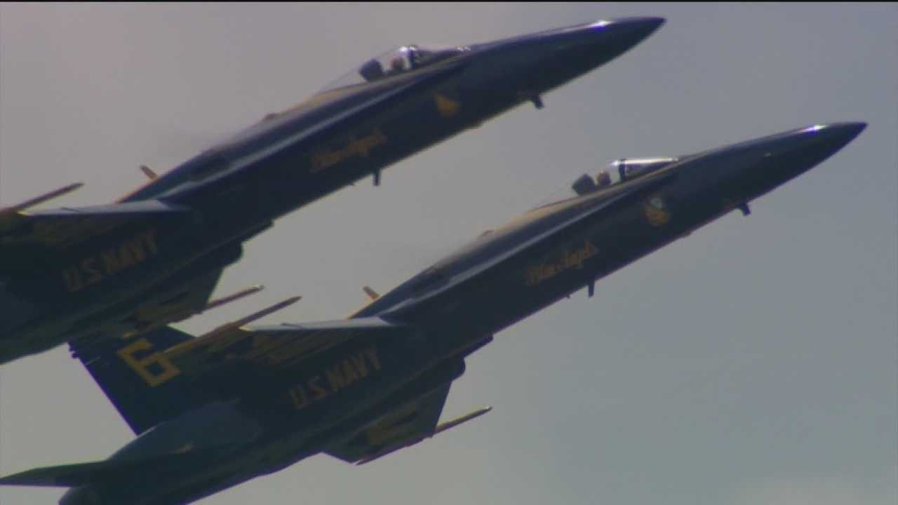 For the Blue Angels, practice makes perfect. A day before they are set to perform at the Naval Academy, the crowds are large and the people are excited.