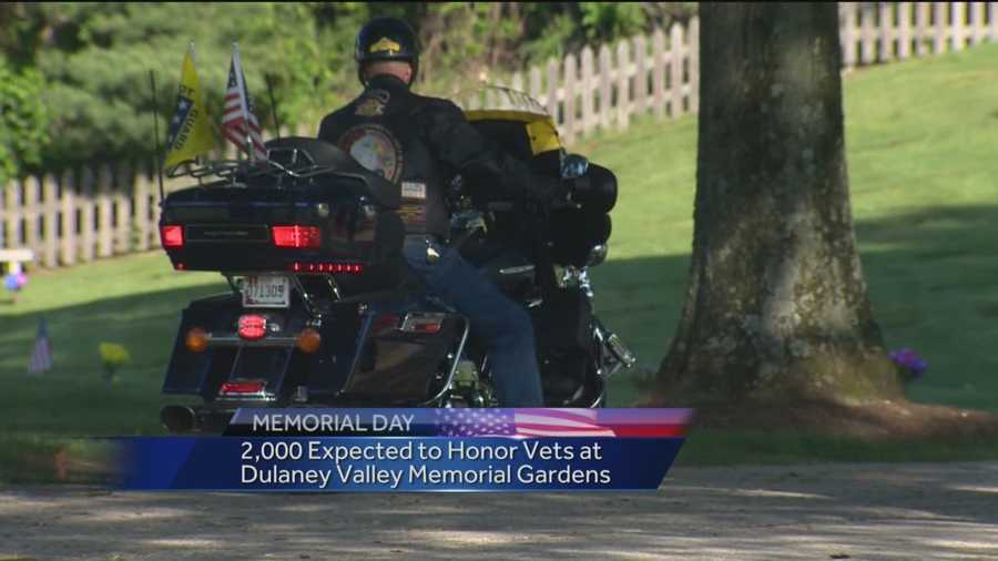 During the observance, visitors will hear the roar of The Patriot Guard Riders. The group of motorcyclists, mostly veterans, will ride in and form a flag line during the ceremony.
