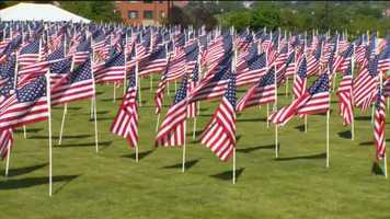 In Catonsville on Monday, 1,000 American flags are flying in a field of honor display at the Charlestown Retirement Community.