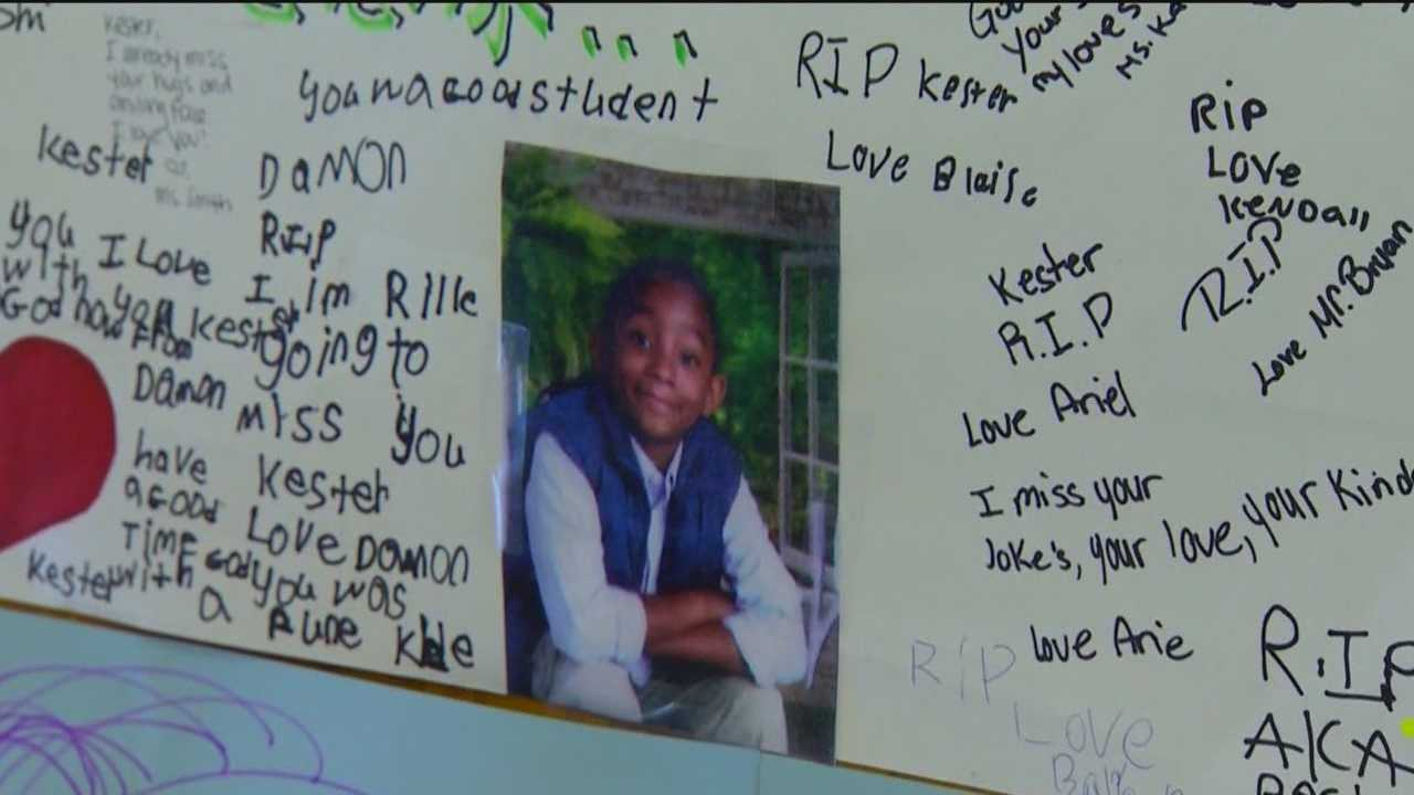 Malik Allen, 8, is coming to terms with saying goodbye to his best friend, Kester Browne III, who was fatally shot in his Baltimore home Thursday.