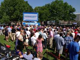 Crowd gathers for O'Malley announcement